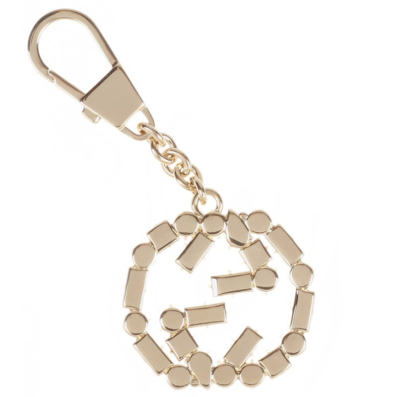 3ae599b61 Gold-tone Interlocking G keyring charm - Profile Fashion