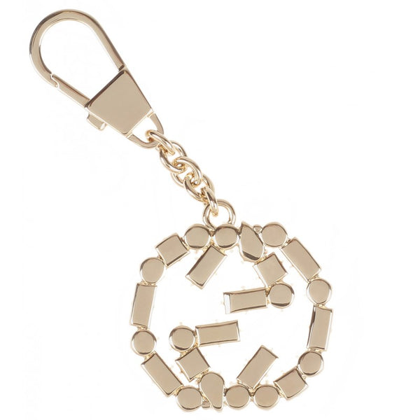 Gold-tone Interlocking G keyring charm