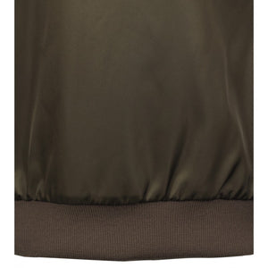 Green Water-Repellent Twill Nylon Jacket