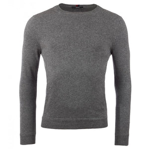 Grey cashmere crew neck sweater