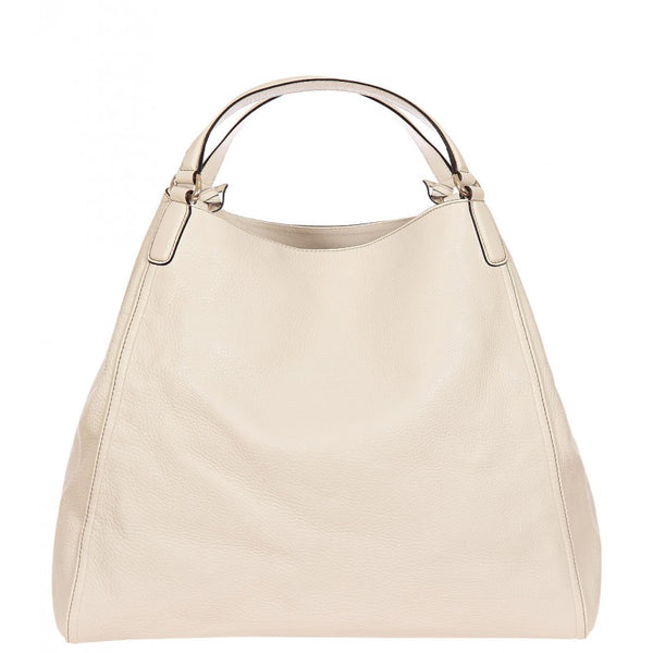 White Borsa Soho soft grain bag