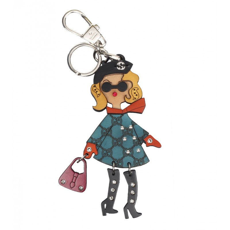 Lady key ring charm