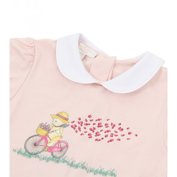 Light cotton Teddy Bicycle print romper