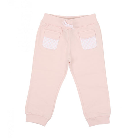 Light pink cotton jogging pant