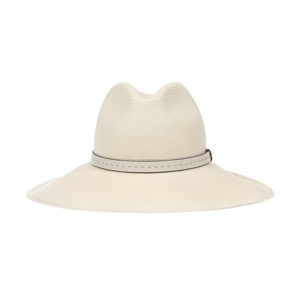 Off-White straw wide-brimmed hat