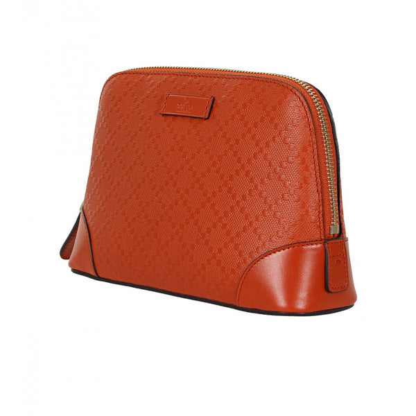 Orange diamante leather cosmetic case