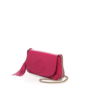 Pink leather Soho mid size chain shoulder bag