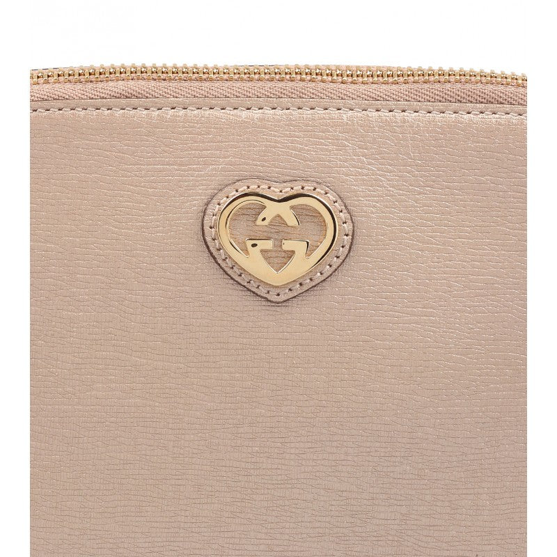 Pink Pearl Metallic Leather Cosmetic Case