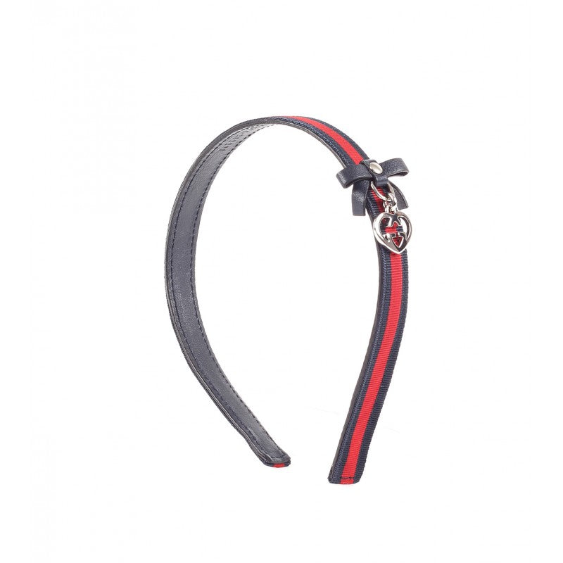 Red and blue gucci ribbon covered hairband