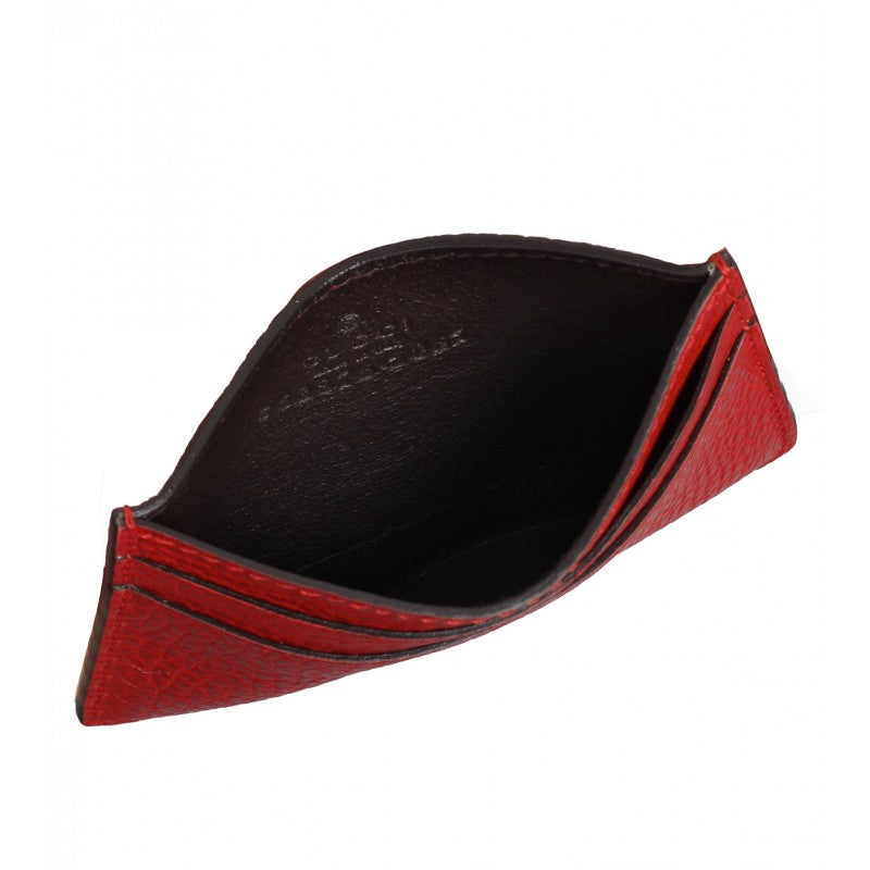 Red leather swing card case