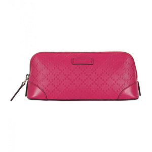 Dark pink diamante leather cosmetic case