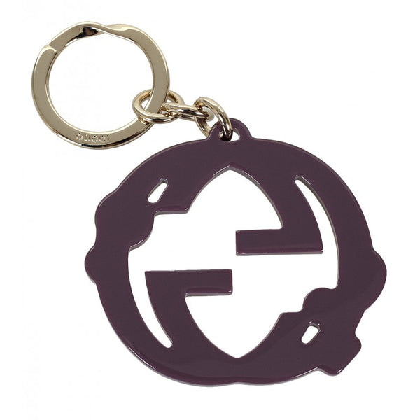 Violet GG plexiglass crystals key ring