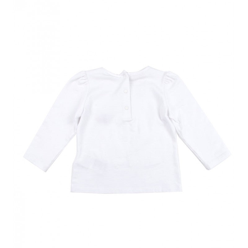 White cotton long sleeved Gucci top