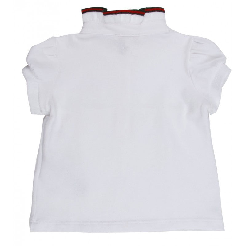 White stretch piquet Gucci polo shirt