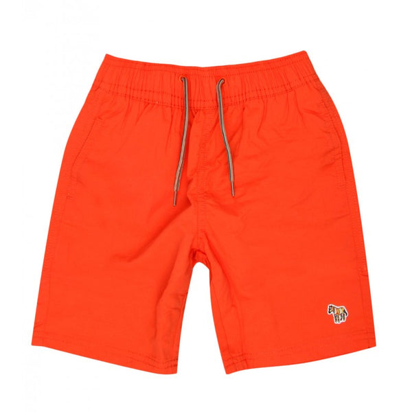 Orange swim shorts