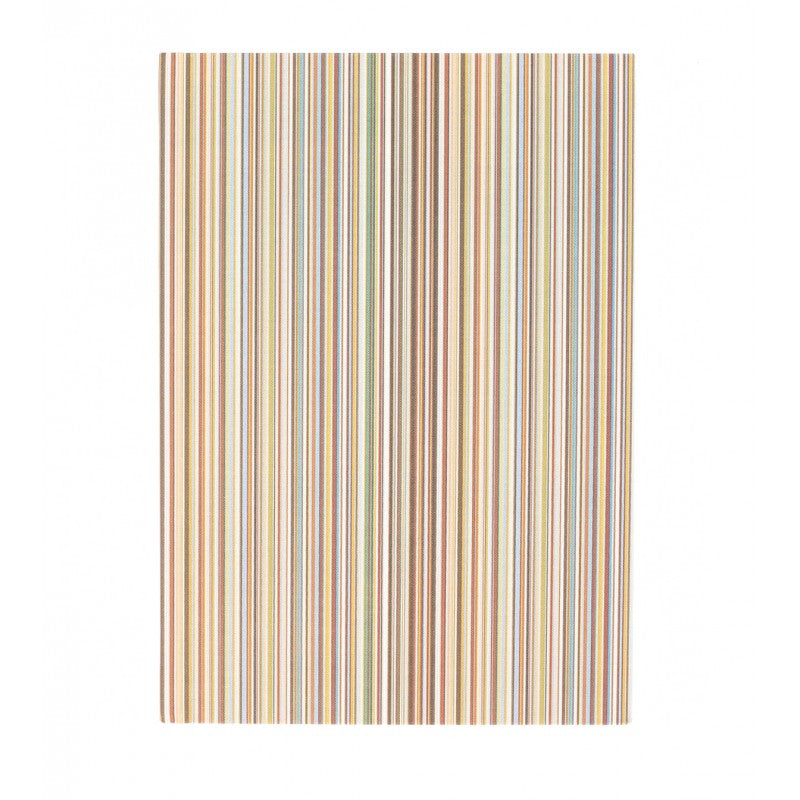 Medium signature stripe linen notebook