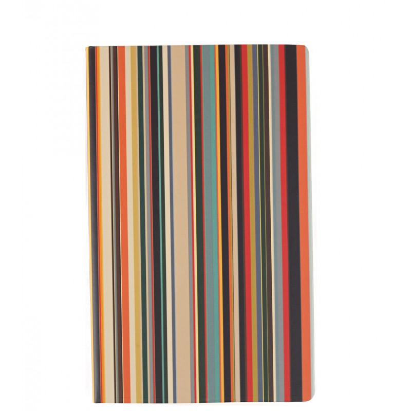 Medium signature stripe notebook