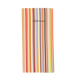 Paul Smith Multi stripe address book