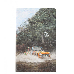 Multicolour medium mini car print lined notebook