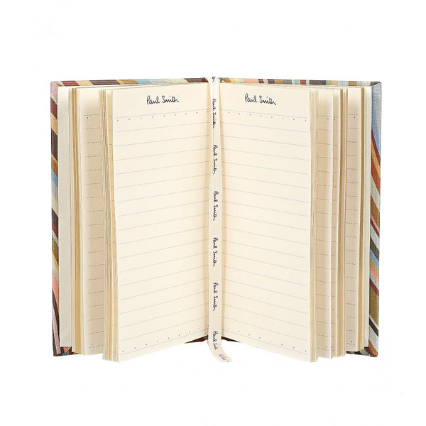 Multicolour small swirl print fabric pocket notebook