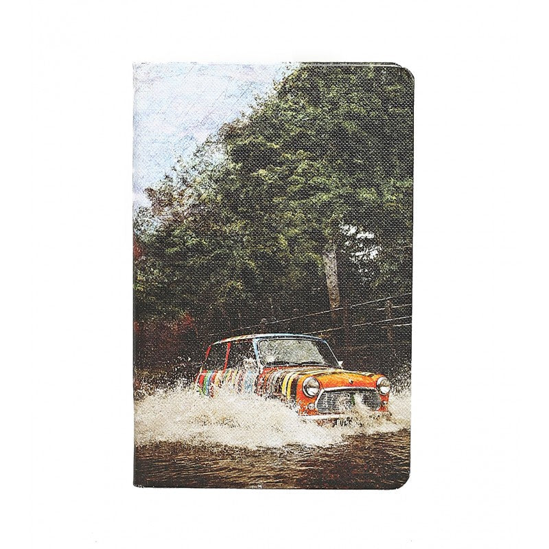 Small mini car print lined notebook