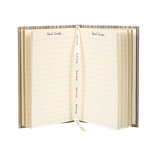 Paul Smith Small signature stripe linen notebook