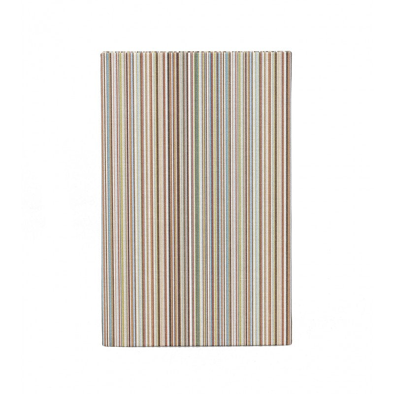 Small signature stripe linen notebook