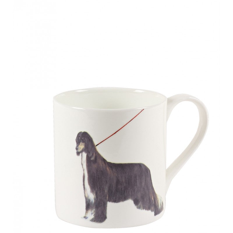White dog printed 'Lancelot' mug
