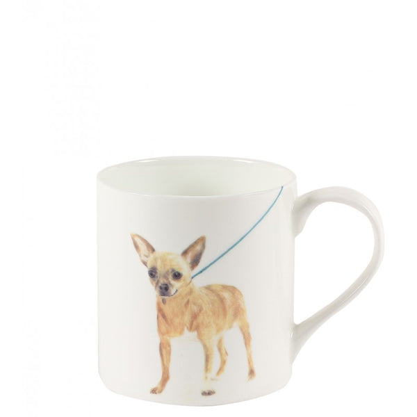 White dog printed 'Tina' mug