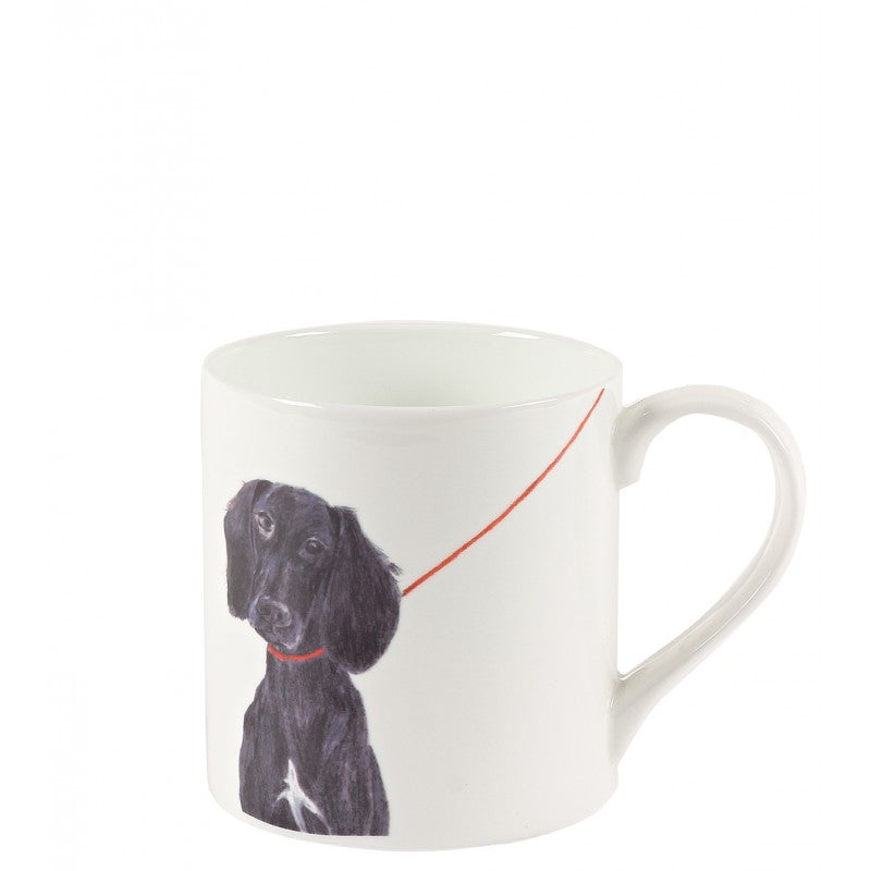 White dog printed 'Trudie' mug