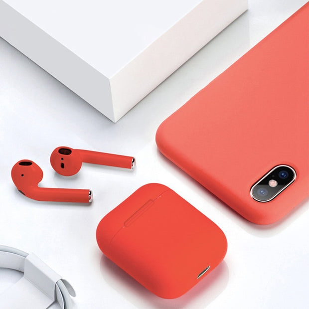 AURICULARES BLUETOOTH I12 TOUCH INALAMBRICOS COLOR ROJO