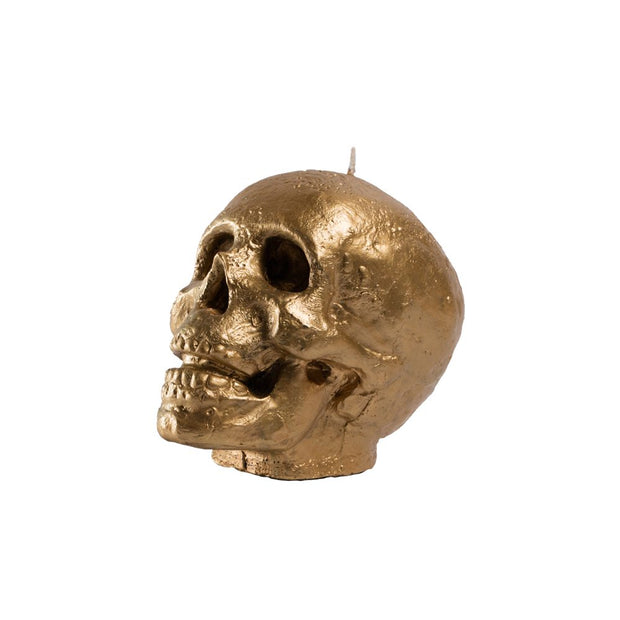 Golden Skull Candle
