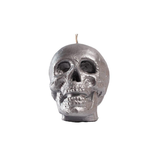 Silver Skull Candle