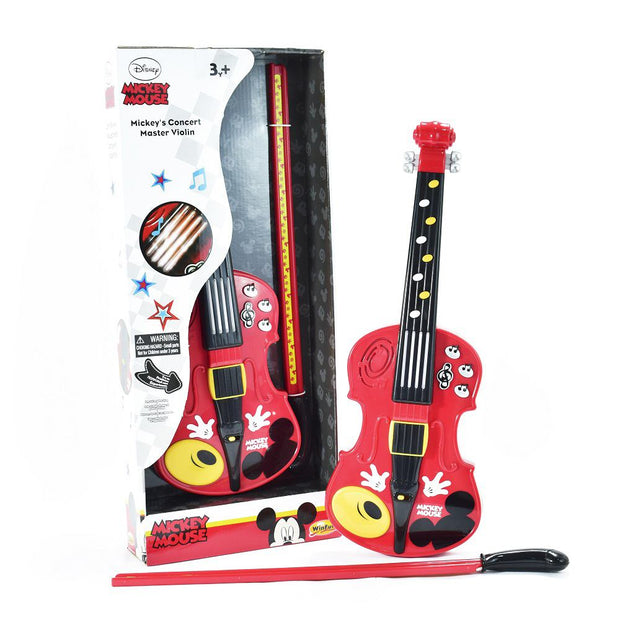 Violín Musical Mickey Mouse Rojo Unisex 4+