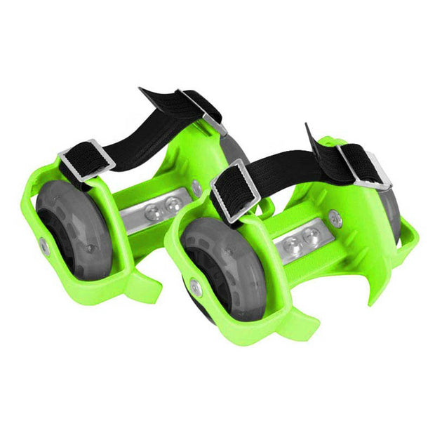 Patines Luminosos Ajustables Para Zapatos Flashing Roller Color Verde