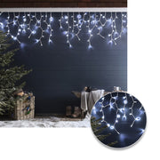 Cortina LED Intercalada 3 Metros 100 LED Decoración BLANCA Navidad RF 100 L-TC