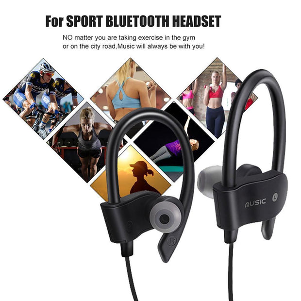 Audífonos Bluetooth deportivos Rt558 COLOR NEGRO