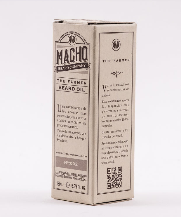 Aceite Barba Macho Beard. The Farmer: Ideal Piel Sensible