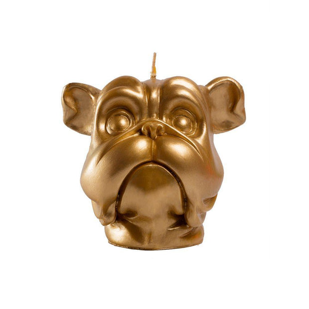 Golden Dog Candle