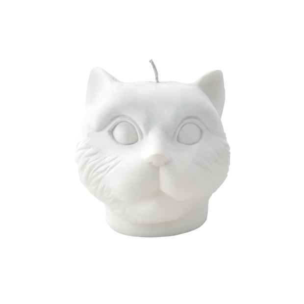 White Cat Candle