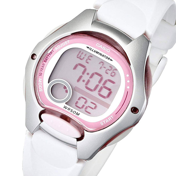 Reloj Casio Dama Digital Modelo Lw 200-7a Original Blanco