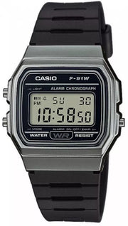 Reloj Casio 5 Alarmas  F-91wm-1b Digital Negro Unisex Original