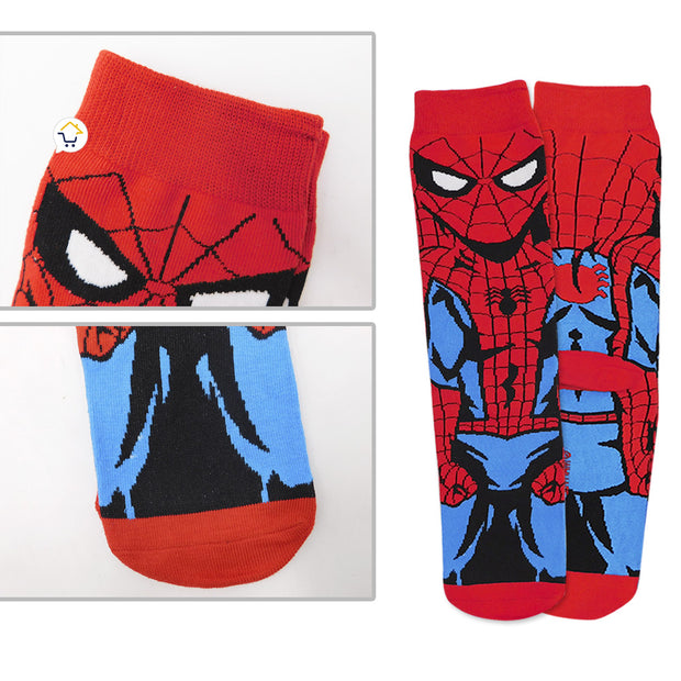 Medias Largas Súper Héroes Calcetines Adulto Spiderman M01