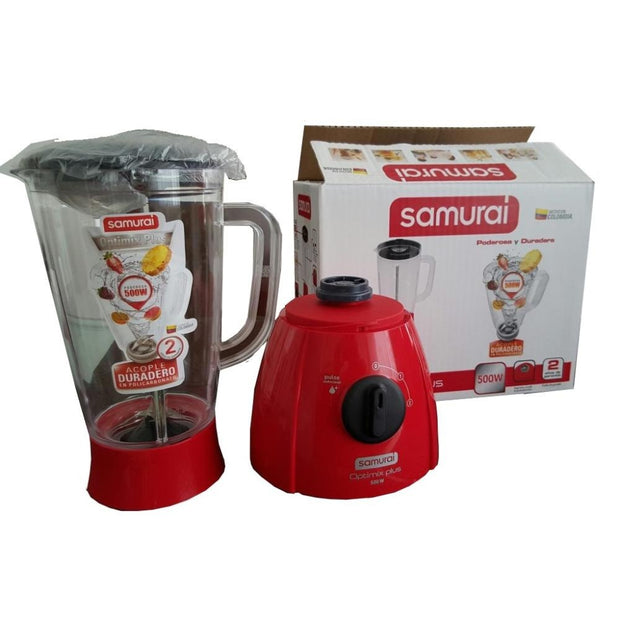 Licuadora Samurai Optimix Plus 500 Watts 2 Litros Roja