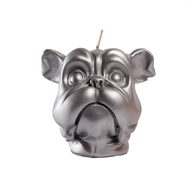 Silver Dog Candle