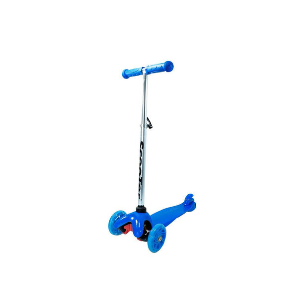 Patineta Scooter Aluminio Ajustable Llantas Luces Azul 3+