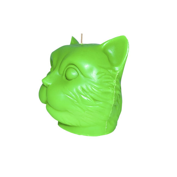 Green Cat Candle