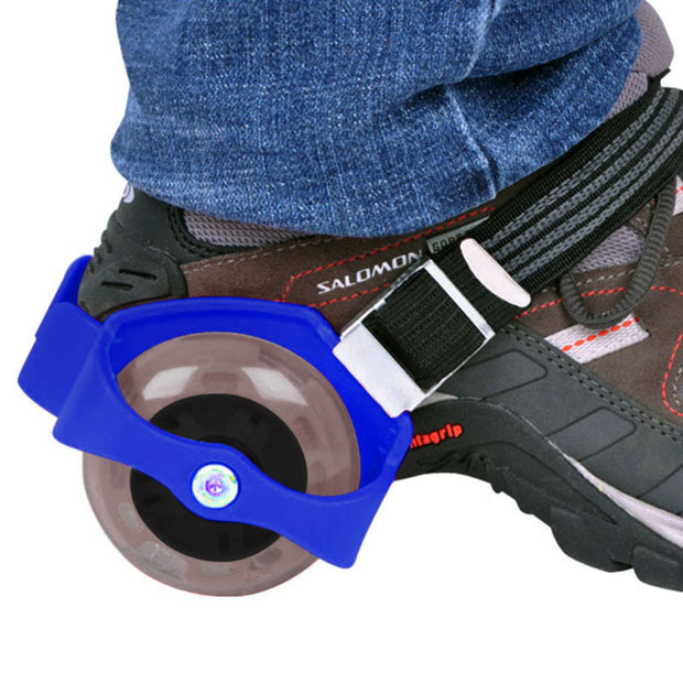 Patines Luminosos Ajustables Para Zapatos Flashing Roller Color Azul