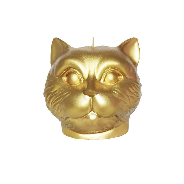 Golden Cat Candle