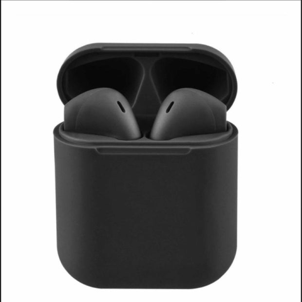 AURICULARES BLUETOOTH I12 TOUCH INALAMBRICOS COLOR NEGRO.